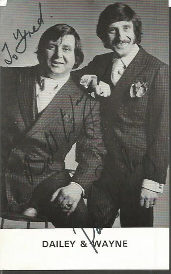 Dailey and Wayne comedy double act 1970s signed 6