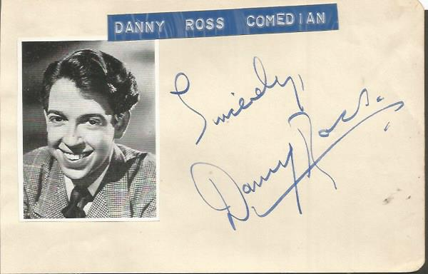 Danny Ross signed autograph album page with small