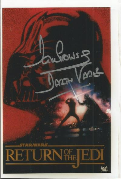 Dave Prowse signed colour Return of the Jedi postc