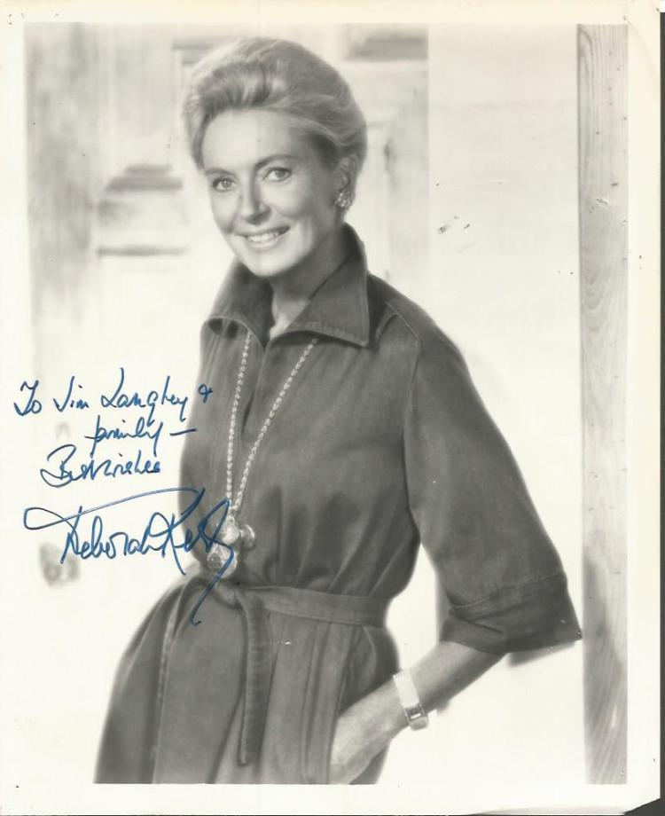 Deborah Kerr signed 10x8 b/w photo.  Dedicated.  S