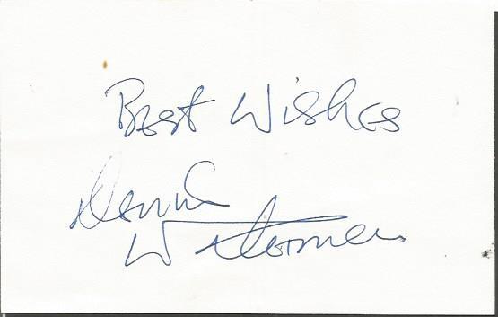 Dennis Waterman actor Minder signature on index ca