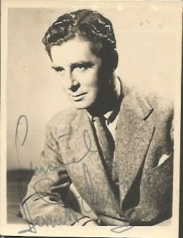 Derek de Marney signed sepia photo. English stage