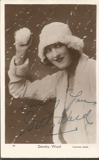 Dorothy Ward signed 6x 4 vintage postcards, one si