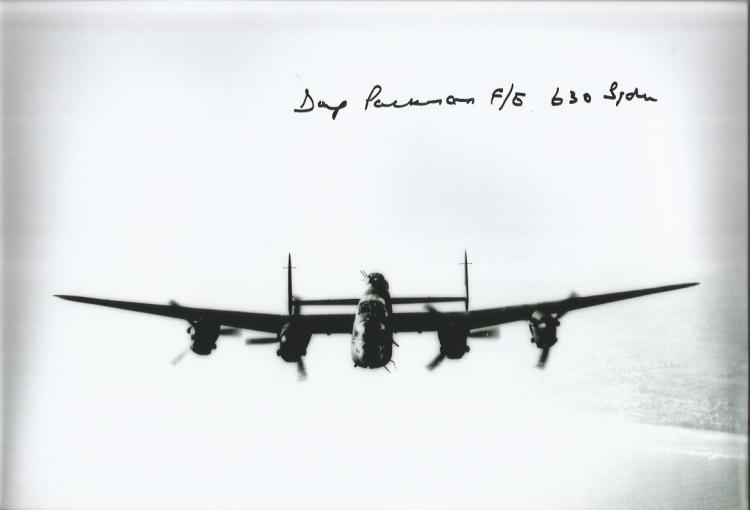 Doug Packman 630 Sqn signed 10 x 8 b/w photo of a