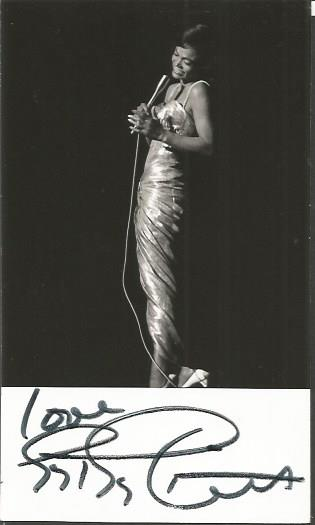 Eartha Kitt signed small 6 x 4 b/w photo.  America