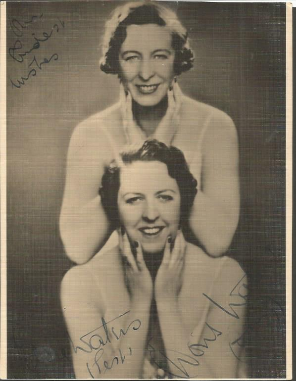 Elsie and Doris Waters signed vintage photo. Comed