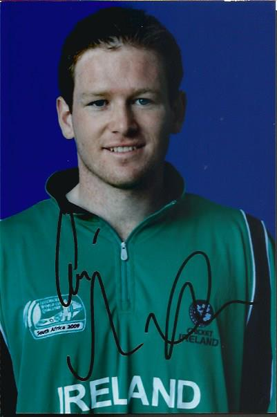 Eoin Morgan signed colour photo. 6x4 portrait phot