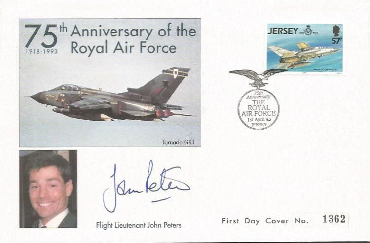 Flt Ltnt John Peters signed 75th anniv of the RAF