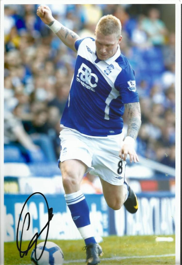 Garry OConnor signed 12x8 colour football photo of