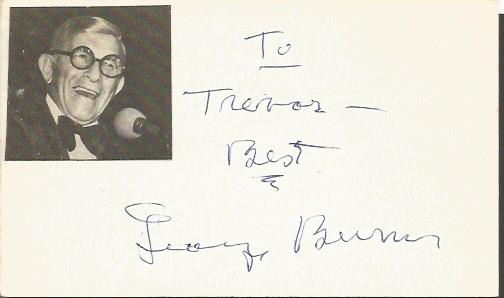 George Burns signature piece American comedian, ac