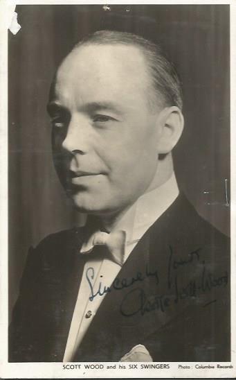 George Scott Wood signed vintage 6 x 4 postcard.