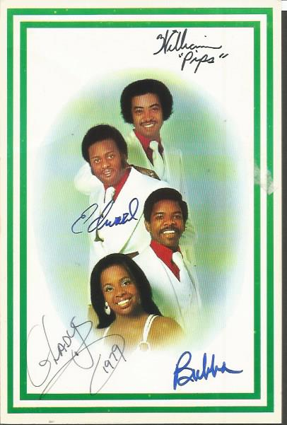 Gladys Knight and the Pips signed colour 6 x 4 197