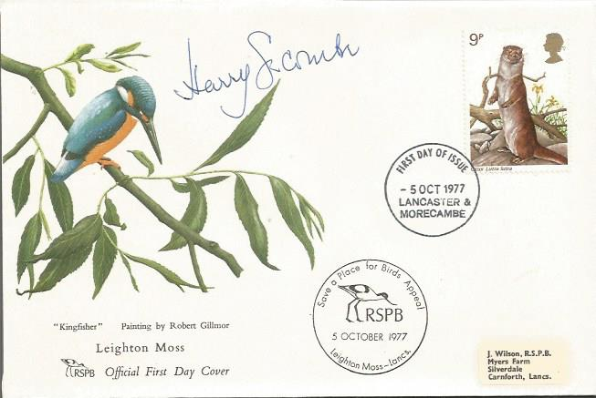 Harry Secombe signed 1977 RSPB Wildlife FDC with s