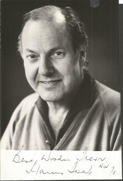 Harry Towb signed small b/w photo. Northern Irish