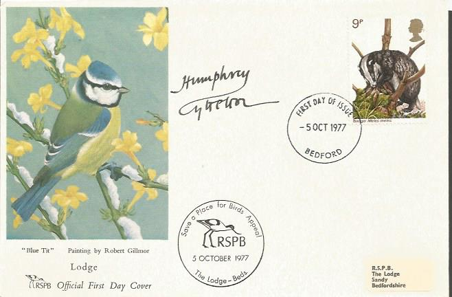 Humphrey Lytteton signed 1977 RSPB Wildlife FDC wi