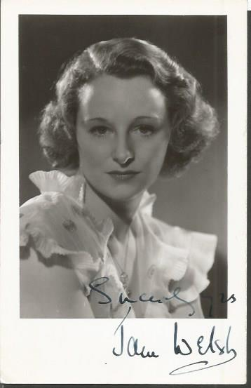 Jane Welsh signed 6 x 4 vintage photo. British act