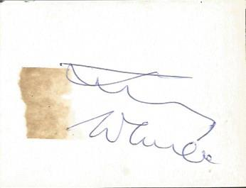 Jimmy Wheeler signed on reverse of small 2 x 2 b/w
