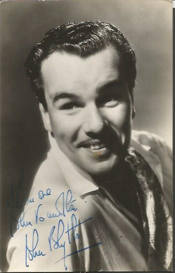 John Blythe signed vintage photo. He was an actor