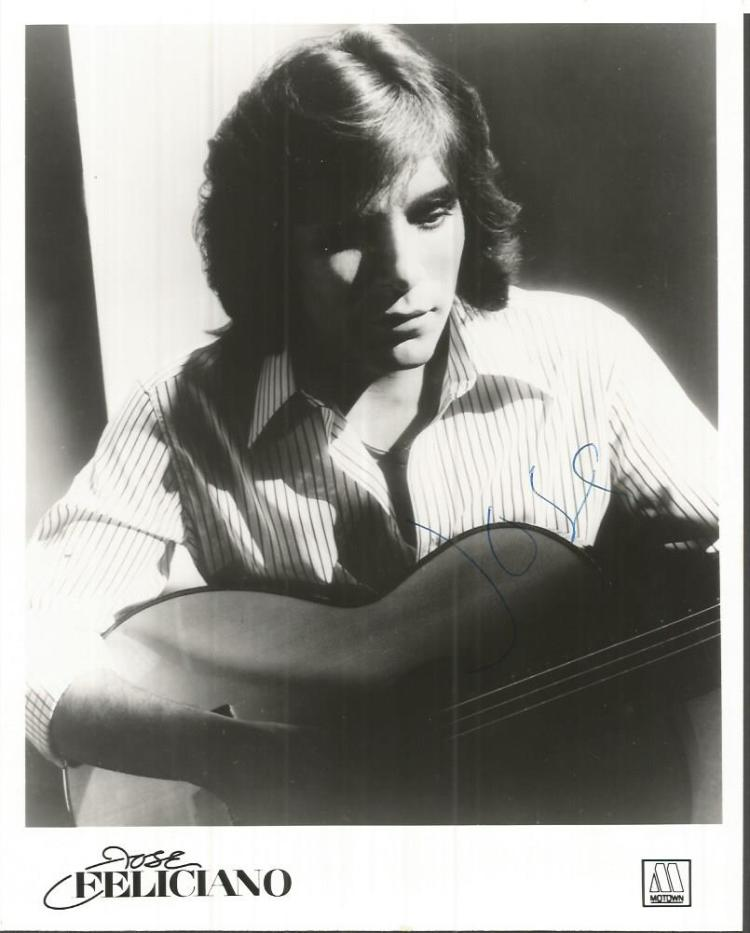 Jose Feliciano signed 10x8 b/w photo.  Puerto Rica