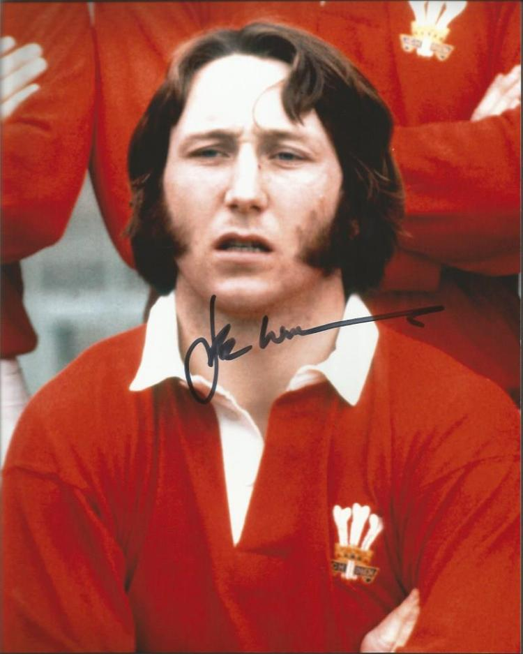 JPR Williams Welsh Rugby Union legend signed 10x8