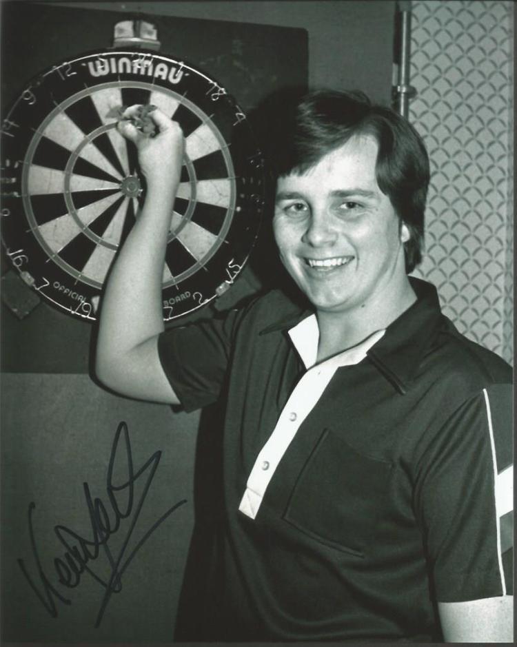 Keith Deller Darts Champion signed 10x8 b/w photo