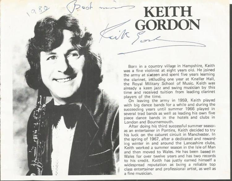 Keith Gordon signed 1980 magazine article. Violini