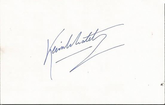 Kevin Whately actor Morse signature on index card