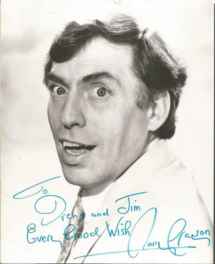 Larry Grayson signed 10x8 b/w photo.  Dedicated Go