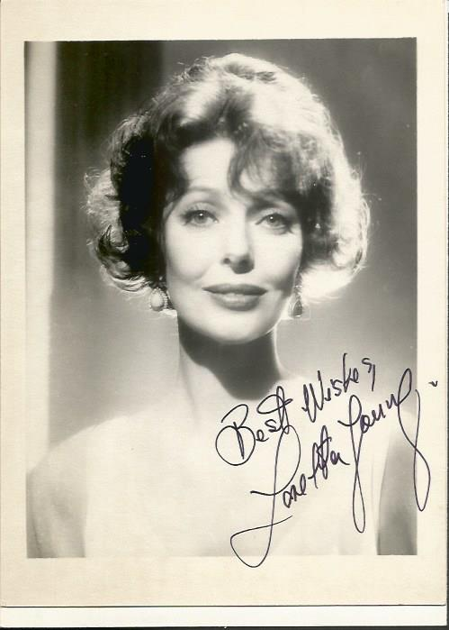 Loretta Young signed sepia 7x5 photo of the Americ