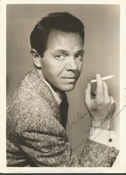 Louis Hayward signed 7 x 5 sepia photo.  South-afr