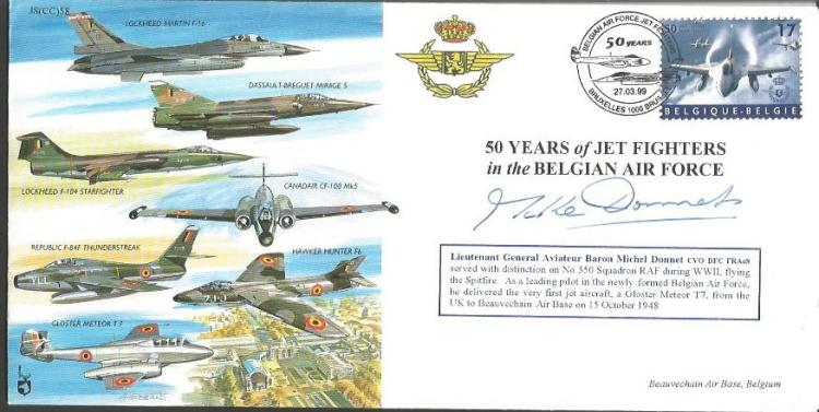 Ltnt Gnrl Michel Donnet signed cover. 50 Years of