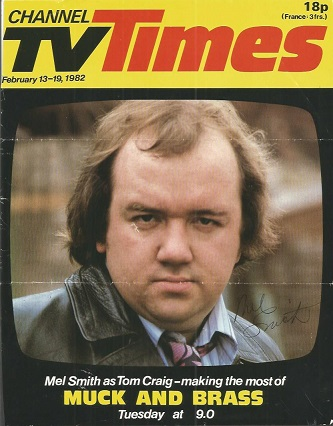 Mel Smith signed front cover of Channel TV Times.