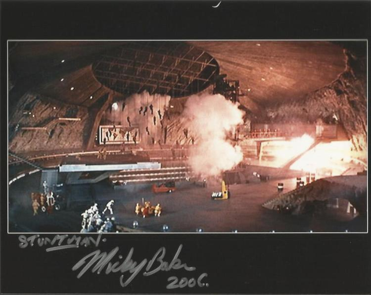 Micky Baker James Bond Stuntman signed 10x8 colour