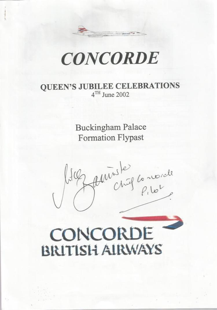 Mike Bannister signed Queens Jubilee formation fly
