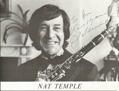 Nat Temple signed 10x8 b/w photo. Dedicated. Big
