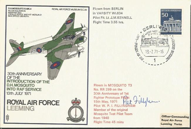Pat Fillingham signed cover. RAF Leeming 30th Anni