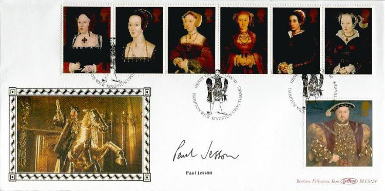 Paul Jesson signed cover. 1997 Benham Six Wives of