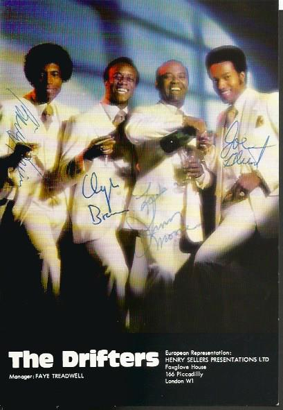 The Drifters music band fully signed colour 6x4 po