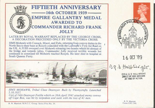50th anniv of Empire Gallantry medal awarded to Co