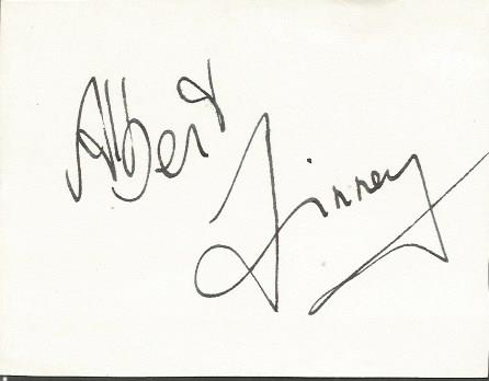 Albert Finney large signature piece. English actor