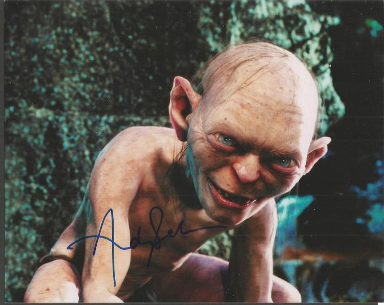 Andy Serkis signed colour 10x8 Lord of the Rings p