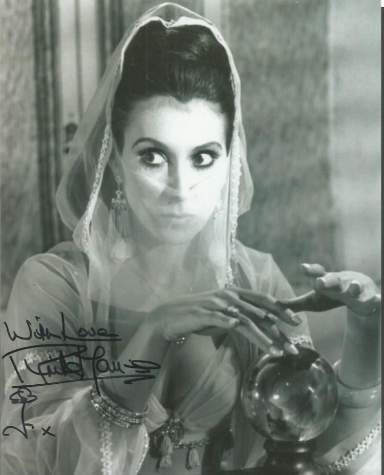 Anita Harris signed 10x8 b/w Carry on Follow that
