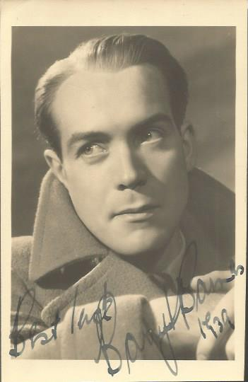 Barry Barnes signed 6 x 4 vintage photo.  British