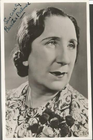 Bertha Belmore signed 6 x 4 b/w photo.  British st