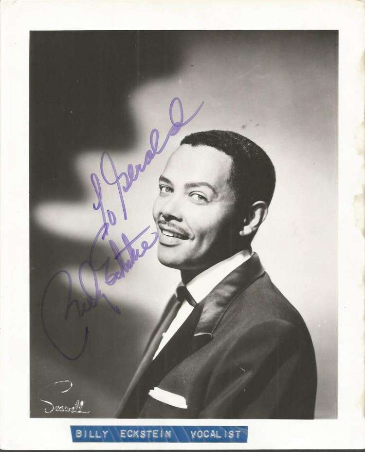 Billy Eckstein signed 10x8 b/w photo.  American ja