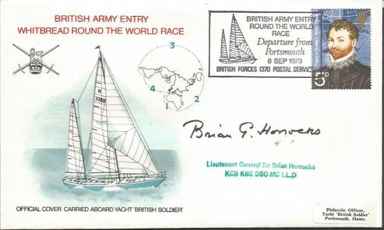 Brian Horrocks DSO MC signed British Army Whitbrea