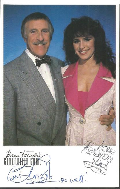 Bruce Forsyth and Rosemarie Ford signed Generation