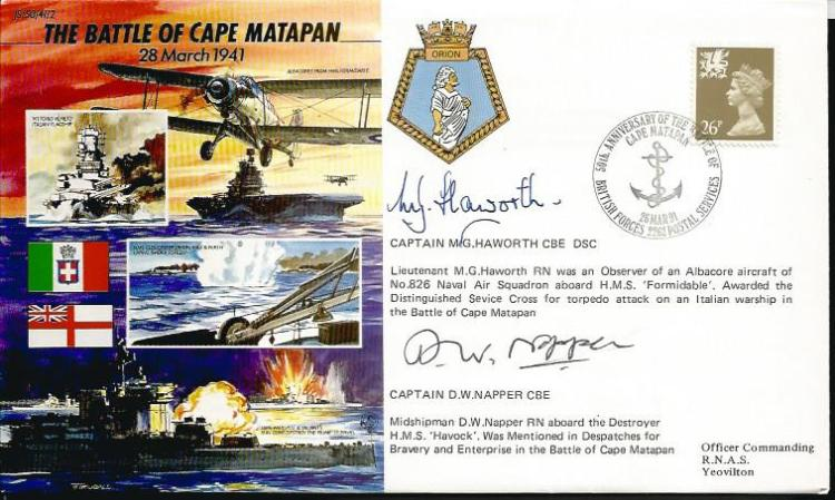 Captain M G Haworth and Captain D W Napper signed