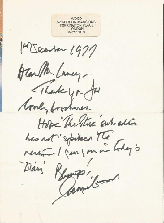 George Wood handwritten signed letter ALS dated 1/