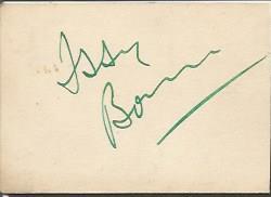 Issy Bonn signature piece, alongwith 10x8 b/w phot